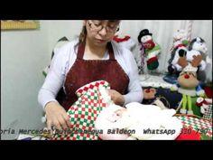 papa noel bigoton parte 3 - YouTube Dyi Crafts, Biscuit, Youtube, Christmas, Decor, Baby Dolls, Christmas Themes, Fabric Dolls, Ribbons