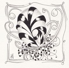 Zentangle® Beispielbilder (Tiles) - Zenjoy Zentangle ® Zürich Schweiz