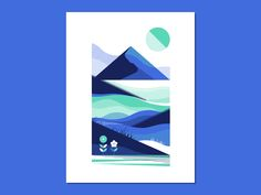 Blue Mountain Landscape Study grass linear abstract geometric sun tree hill mountain line landscape halftone depth Adobe Illustrator, Minimal Graphic Design, Study Design, Ui Inspiration, Blue Mountain, Mountain Landscape, Blue Design, Graphic Illustration, Illustrations Posters