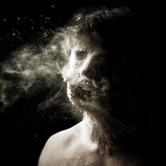 Aeolus (Self-portrait with flour) by Luca Pierro, via Flickr