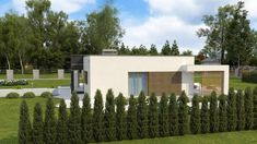 ZX105 B - Gotowy projekt domu parterowego w nowoczesnym stylu do 100 m2 Home Building Design, Building A House, House Design, Plans Architecture, 100 M2, Outdoor Structures, Houses, House Siding, Projects