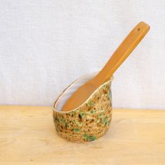 Spoonrest hand thrown pottery ceramic spoon rest