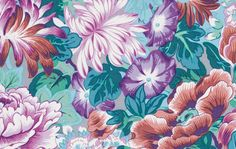 """Philip Jacobs PWPJ064 Lavinia Mauve Foral Kaffe Fassett Collective Designer Quilting 18"""" BTHY Rowan Westminster Half Yard 18"""" Quilt Fabric by KinshipQuilters on Etsy"""