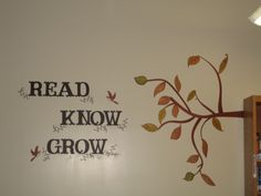 Library Wall Decoration Read Know Grow