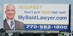 Everyone has seen a billboard for a lawyer at some point when driving down the highway or across town. Check out these really hilarious lawyer billboards t. Funny Images, Funny Pictures, Funny Billboards, Lawyer Humor, Business Format, College Humor, Stupid People, Funny Signs, Funny Fails