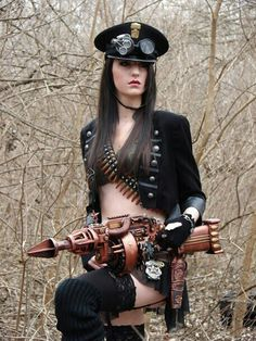 Celebrating Beautiful Steampunk Girls in Awesome Costumes Steampunk Accessoires, Mode Steampunk, Steampunk Weapons, Steampunk Couture, Steampunk Cosplay, Gothic Steampunk, Steampunk Clothing, Steampunk Fashion, Gothic Fashion