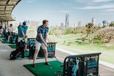 Victoria Park's Driving Range is Brisbane's biggest range - located just from Brisbane's CBD with stunning city views Team Building Activities, Work Activities, Golf Mats, Golf Range, Brisbane City, Bogor, Weekend Fun, Wedding Venues, Deck
