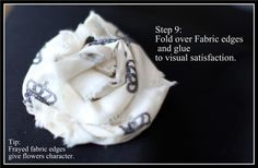 Teresa Collins Blog site.  Great tutorial for fabric flowers and scarp-booking ideas.