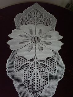 One Amazing Hand Crochet White Tablecloth Flowers by mariettanova, $163.00
