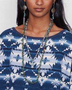 Print Wide-Neck Top - Long-Sleeve  Knits & Tees - RalphLauren.com