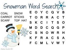 Snowman Word Search