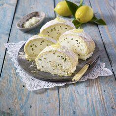 Italienische Zitronen-Biskuitrolle Rezept | LECKER