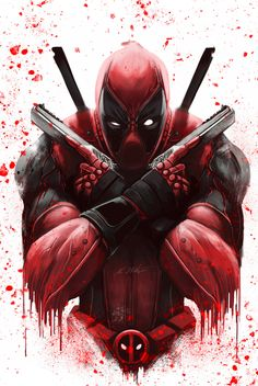 Deadpool: The Merc With The Mouth Deadpool Art, Deadpool And Spiderman, Deadpool Tattoo, Deadpool Hd Wallpaper, Avengers Wallpaper, Marvel Comics Art, Marvel Heroes, Marvel Avengers, Deadpool Pictures