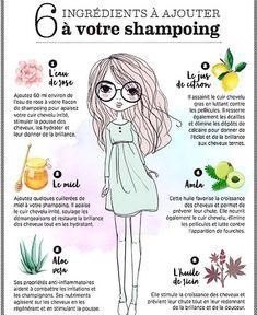 6 ingredients to add to your shampoo Cooking Recipes, Health Tips … Beauty Care, Diy Beauty, Beauty Hacks, Beauty Secrets, Color Cobrizo, Oily Hair Shampoo, Curly Hair Styles, Natural Hair Styles, Hair Rinse