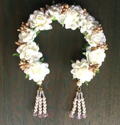 Picture from Ami Mane Handcrafted Jewellery Photo Gallery on WedMeGood. Browse more such photos & get inspiration for your wedding Flower Hair Accessories, Flower Jewelry, Indian Wedding Flowers, Bridal Hair Buns, Floral Hair, Plan Your Wedding, Photo Jewelry, Flowers In Hair, Handcrafted Jewelry