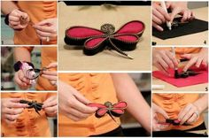 DIY Dragonfly Brooch Using Zippers - Find Fun Art Projects to Do at Home and Arts and Crafts Ideas | Find Fun Art Projects to Do at Home and Arts and Crafts Ideas