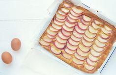 plaatcake met perzik