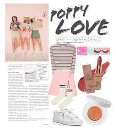 """Korean style #koreanstyle #simple #3ce #polyvore #polyvoreid #polyvorekorea"" by vikapranika on Polyvore featuring Topshop, Puma and shu uemura"