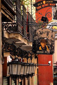 Pub irlandés en el barrio de Malasaña #Madrid