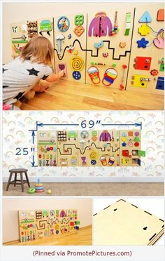 Busy board set Montessori furniture for kids room Montessori toddler quiet game Sensory board Educational toy Montessori materials Busy cube Activity board with gears Montessori Toddler, Montessori Toys, Toddler Toys, Montessori Bedroom, Handgemachtes Baby, Baby Kind, Baby Play, Infant Activities, Activities For Kids