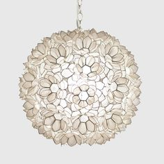 Capiz Shell Floral Jupiter Pendant, 350 for large (20in), 265 (15in)  for small - sophie's room