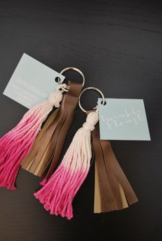 You Owe Your Key One Of This Beautiful DIY Key Chains. DIY Ombre Tassel Key Chain