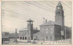 ATLANTIC-CITY-New-Jersey-NJ-FIRE-DEPARTMENT-City-Hall-c1900s-Postcard
