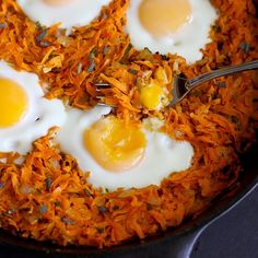 Whip up this healthy sweet potato hash with baked eggs for brunch or an easy Meatless Monday meal. It's tasty and chockfull of vitamins and minerals.