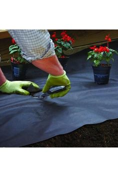 Weed control is so much easier when you start with a solid foundation of landscape fabric before building up your flower bed. Learn more about controlling weeks at The Home Depot's Garden Club.