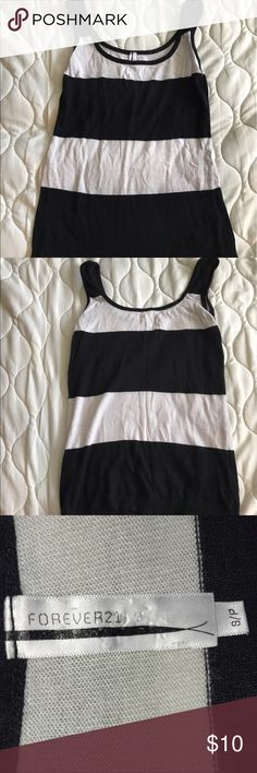 Striped Tank No flaws just a little wear from washing it. Forever 21 Tops Tank Tops