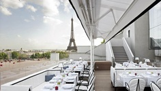 The new Montaigne roof top terrasse for a special occasion, it's worth it on wram evening if you are outside with the stunning view!