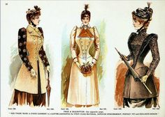 Victorian Fashion of 1891 - Deutsch Catalogue Jackets and Coat Page 26