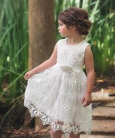 Look at this #zulilyfind! White Bella Brianna Dress - Infant, Toddler & Girls #zulilyfinds