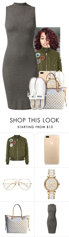 """Untitled #1862"" by toniiiiiiiiiiiiiii ❤ liked on Polyvore featuring Topshop, Michael Kors, Louis Vuitton and Converse"