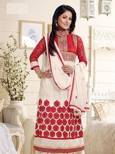 Buy Online Akshara Hina Khan Designer Anarkali Suit