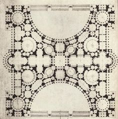 archimaps: Project for a monumental building, Académie des Beaux-Arts, Paris Architecture Mapping, Architecture Drawings, Architecture Plan, School Architecture, Architecture Details, Classic Architecture, Renaissance Architecture, Historical Architecture, Mos Architects