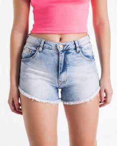 BadCat - Shorts Jeans Cintura Alta