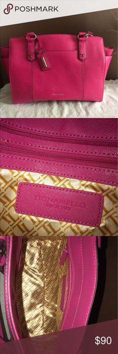 Tignanello Saffiano Leather Satchel Beautiful pink, only used a couple times Tignanello Bags Satchels