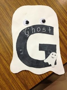 G is for Ghost - super cute to do around Halloween!