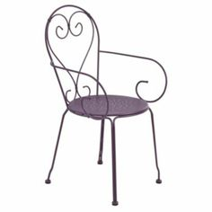 Flores Metal Armchair, Purple, 5052931137305