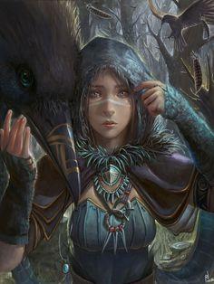 Wintercrow by paindude