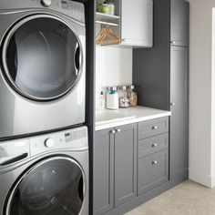 """Figure out even more information on """"laundry room storage diy cabinets"""". Have a look at our web site. Modern Laundry Rooms, Laundry Room Layouts, Large Laundry Rooms, Laundry Room Remodel, Laundry Room Organization, Laundry Room Design, Laundry Decor, Organization Ideas, Basement Laundry"""