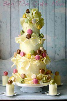 Chocolate Macaron Wedding cake