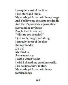 INFP. Sometimes it feels this way. But thankfully we have a Father in heaven who listens and understands :)