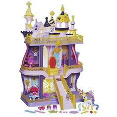 My Little Pony has legions of fans and it's easy to see why. They have darling playsets -- including the My Little Pony Cutie Mark Magic Canterlot Castle. Toys For Girls, Kids Toys, Toys Uk, New My Little Pony, Monster High, Princess Celestia, Princess Castle, Top Toys, Christmas Toys