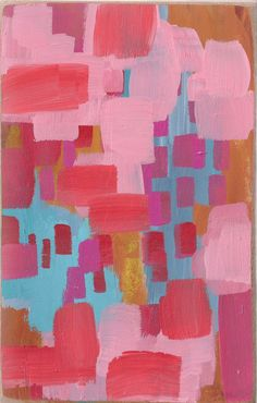 DIY art idea: Bright and Bold Abstract Acrylic Painting