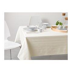 IKEA - CAJA, Tovaglia, I colori restano immutati lavaggio dopo lavaggio grazie al cotone tinto in filo.
