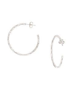 High-impact Hoop Earrings - Silpada Designs.  Simple hammered silver hoops.  Not too big and not too small.  $49  mysilpada.com/joyce.lowd