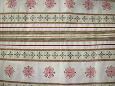Coupon de tissu ameublement réversible 68x150 cm motifs Noël : Tissus Ameublement par tafy57