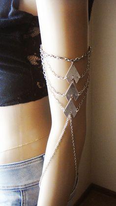 Chain Armlet Shoulder armor, chain shoulder jewelry, Shoulder Piece, Shoulder chain .upper arm chain, body chain, unique jewelry